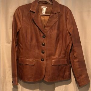 Brown leather jacket with great details